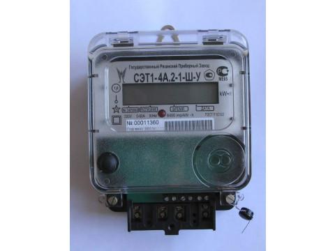 Счетчики электрической энергии однофазные электронные СЭТ1-4А