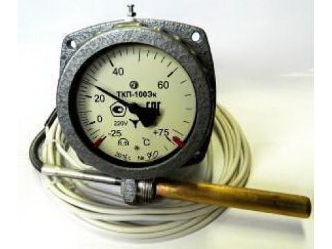 Термометры манометрические показывающие электроконтактные ТКП-100Эк