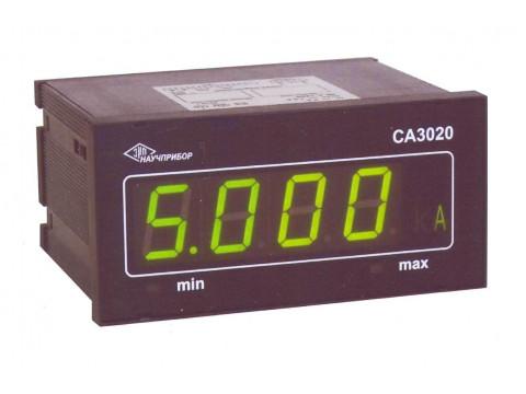 Амперметры и вольтметры цифровые щитовые 3020, исп. СА3020-1, СА3020-2, СА3020-5, СВ3020-100, СВ3020-250