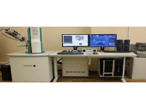 Микроанализатор рентгеновский с детектором в составе электронного микроскопа Aztech Advanced Inca Energy 350 (микроанализатор) Х-max 80 (детектор) Mira 3 LMU (микроскоп)