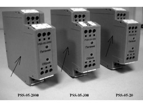 Усилители измерительные сигналов вибродатчиков PSS-05-20, PSS-05-300, PSS-05-2000