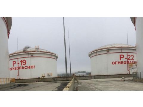 Резервуары стальные вертикальные цилиндрические с понтоном номинальной вместимостью 20000 м3 РВСП-20000