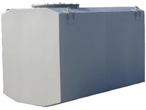 Резервуары стальные горизонтальные с чемоданообразной формой сечения обечайки РГС