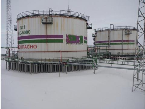 Резервуары стальные вертикальные цилиндрические теплоизолированные РВС-5000