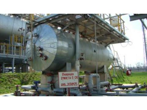 Резервуар стальной горизонтальный цилиндрический РГС-10