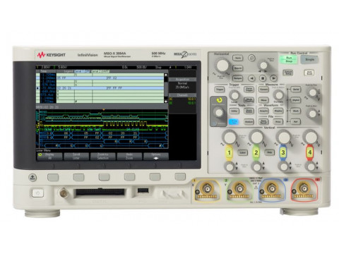 Осциллограф смешанных сигналов: 500 МГц, 4 аналоговых и 16 цифровых каналов MSOX3054A