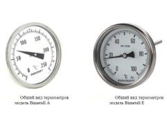 Термометры биметаллические Bimetall A и Bimetall E
