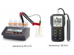 Анализаторы жидкости кондуктометрические HI 98308, HI 98301, HI 98302, HI 98303, HI 98304, HI 98311, HI 98312, HI 9033, HI 9034, HI 8733, HI 8734, HI 99300, HI 99301, HI 9835, HI 2300, HI 2314, HI 2315, HI 2316, HI 8633