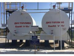 Резервуары стальные горизонтальные цилиндрические РГС-10