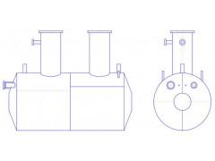 Резервуары стальные горизонтальные цилиндрические РГС-8, РГС-12,5, РГС-63