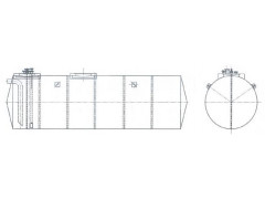 Резервуар стальной горизонтальный цилиндрический РГС-50