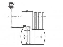 Резервуар стальной горизонтальный цилиндрический РГСП-50