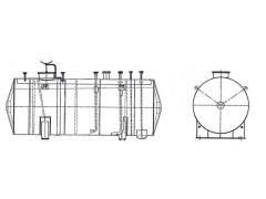 Резервуары стальные горизонтальные цилиндрические РГС-25, РГС-75