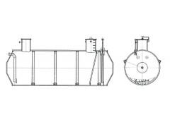 Резервуары стальные горизонтальные цилиндрические РГС-63