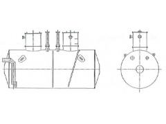 Резервуар стальной горизонтальный цилиндрический ЕП-20