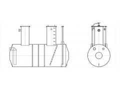 Резервуары стальные горизонтальные цилиндрические РГС-12,5