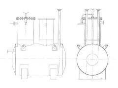 Резервуар стальной горизонтальный цилиндрический РГС-8