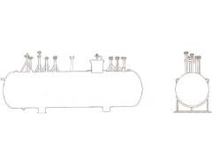 Резервуар стальной горизонтальный цилиндрический подземный РГСП-12,5