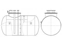 Резервуары стальные горизонтальные цилиндрические РГС-4, РГС-8
