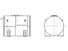 Резервуар стальной горизонтальный цилиндрический РГС-4