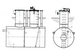 Резервуары горизонтальные стальные цилиндрические РГС-100
