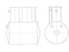 Резервуар стальной горизонтальный цилиндрический РГС-5