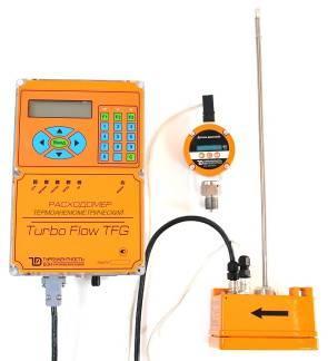 Расходомер газа термоанемометрический массовый линейки Turbo Flow серии TFG